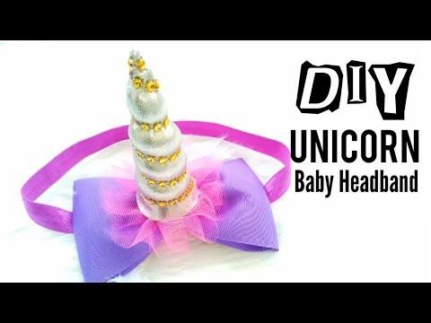 DIY Unicorn Headband for baby    Headband Ideas   Easy Tutorial    How to make