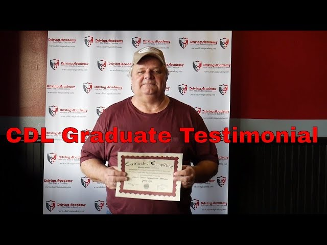 David got his CDL with the best driving school - Driving Academy Graduate Testimonial