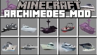 Minecraft ARCHIMEDES MOD / MAKE YOUR OWN BOATS AND TRAVEL WITH THEM!! Minecraft
