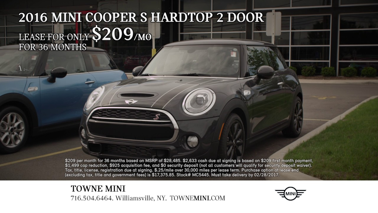 save big on a 2016 mini cooper s hardtop 2dr at towne. Black Bedroom Furniture Sets. Home Design Ideas