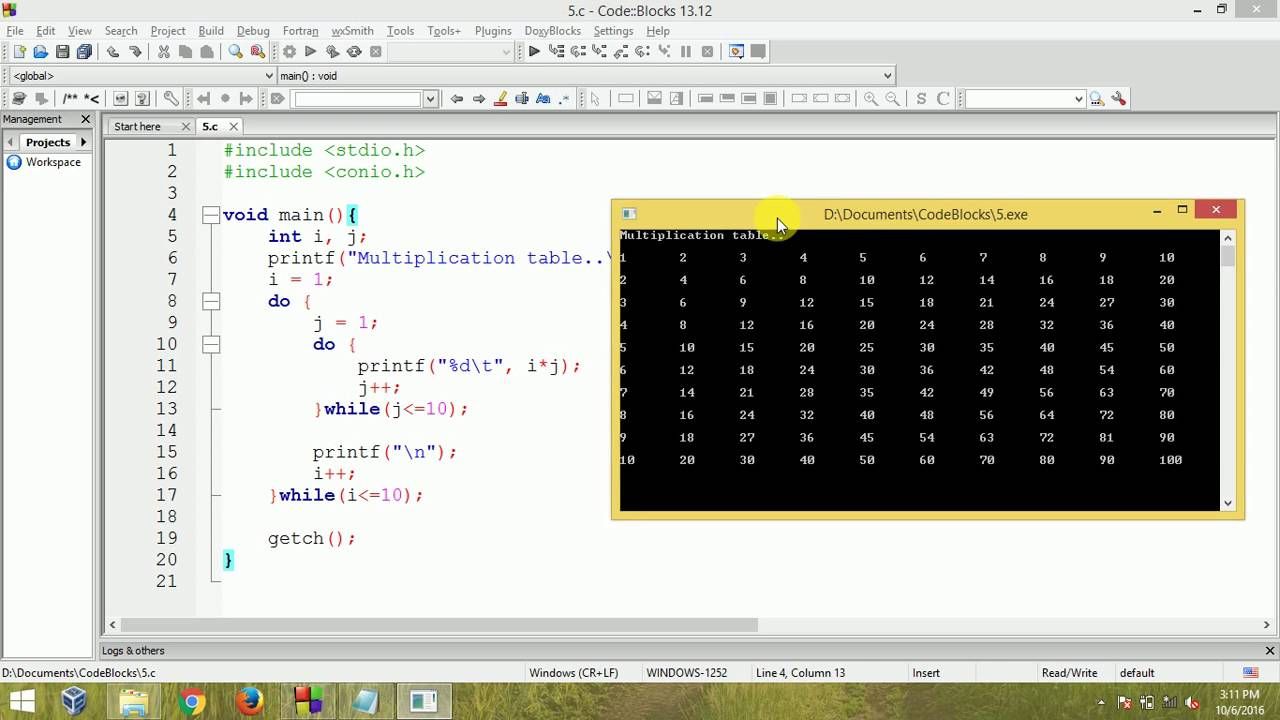 C programming multiplication table using nested do while for Table a vi 6 2 of the stcw code