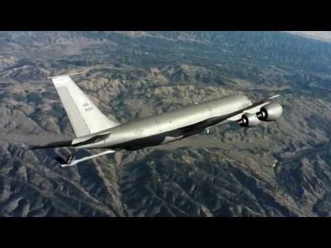 Air Mobility Command KC-135 Stratotanker Air to Air Video