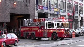 Ladder 4 + Engine 54 + Battalion 9 + Engine 23 FDNY (+ on scene and leaving)