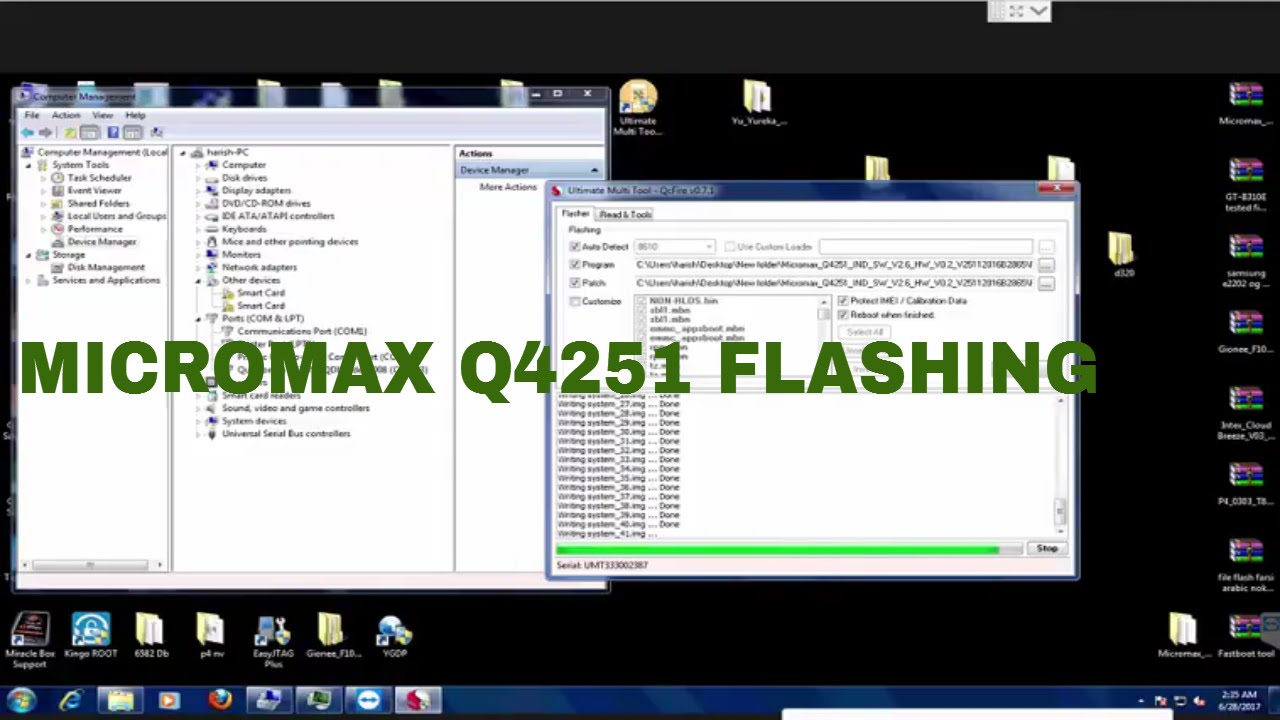 How To Flash Micromax Q4251 By UMT DONGLE