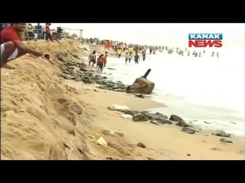 High Tides In Sea, High Alert In Puri Beach