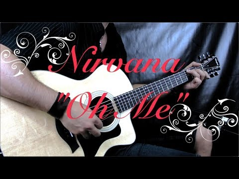 "Nirvana (Unplugged) - ""Oh Me"" - Acoustic Guitar Lesson (w/Tabs)"