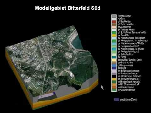 3D geological model Bitterfeld   www.3d-geology.de