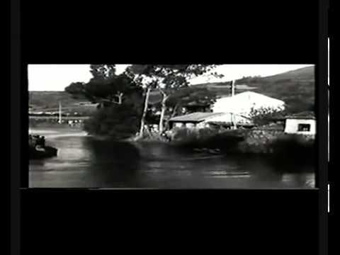 JULIO MIRAVALLES MANUEL RIVERO  IX REGATA DE PIRAGUAS RIA DE VILLAVICIOSA 1953wmv