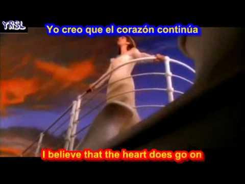 My heart will go on   Titanic   Celine Dion SUBTITULADO  INGLES ESPAÑOL
