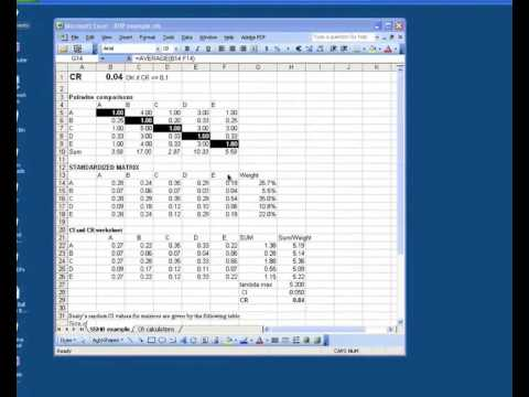 AHP Using Microsoft Excel