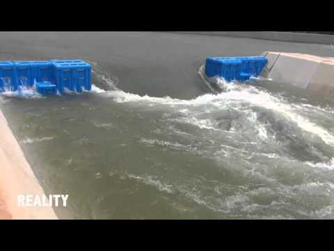 Olympic white water slalom course in Rio - model comparison
