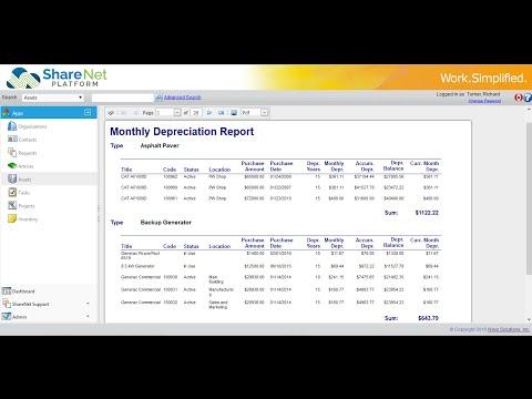 ShareNet Asset Management Software - Overview Demo Video