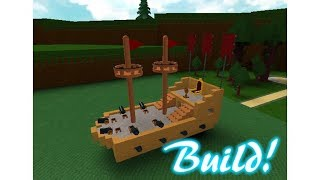 Roblox Build and boat I built my ship