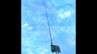 ham radio 7 to 55 mhz vertical HF  antenna low profile  video 1