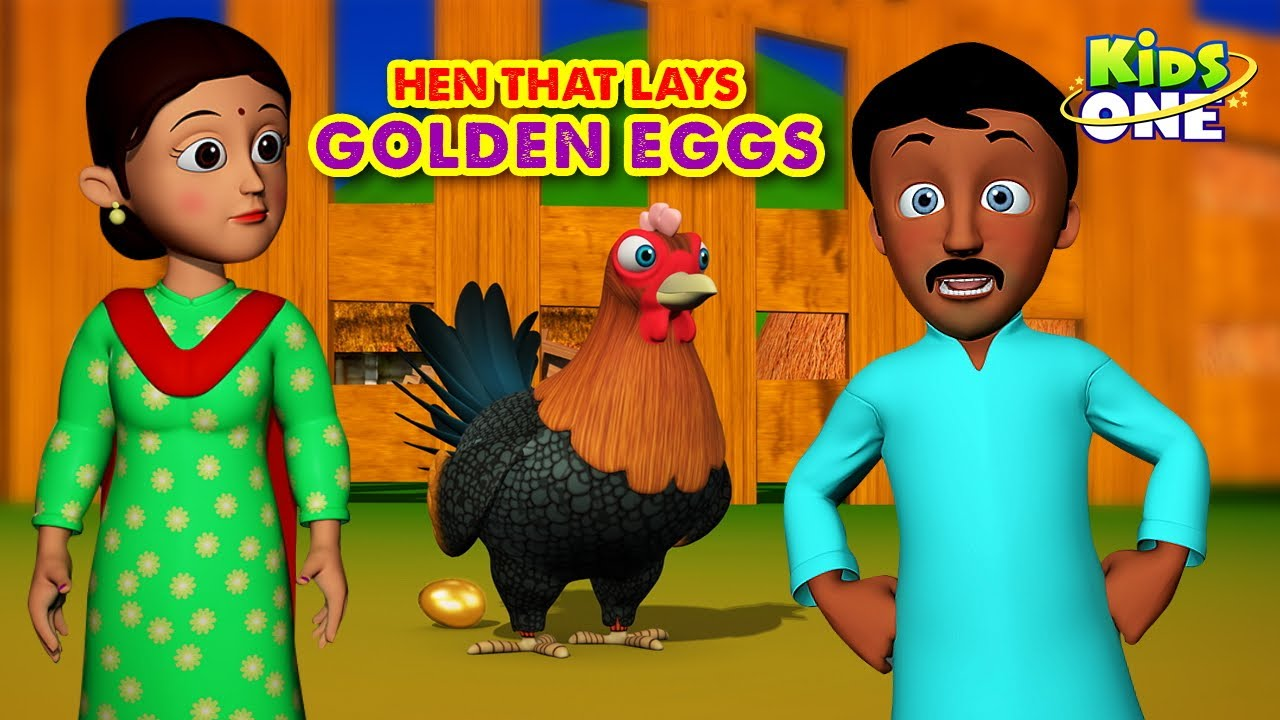Hen that Lays Golden Eggs Story in English | Moral Story telling in English | Bed Time Stories