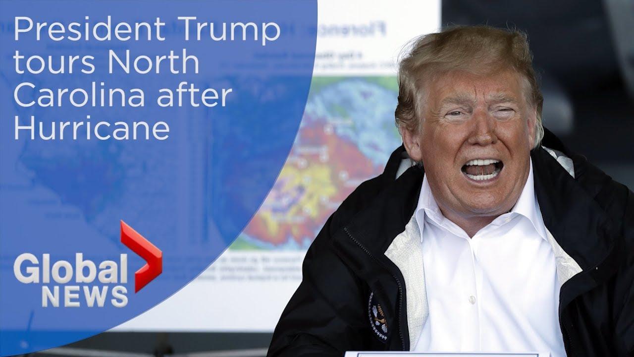 President Trump tours North Carolina after Hurricane Florence