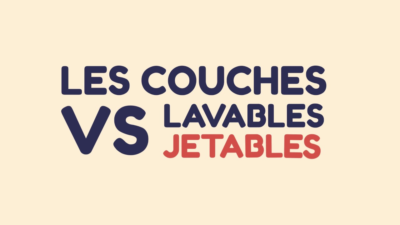 Couches Lavables Vs Jetables Youtube