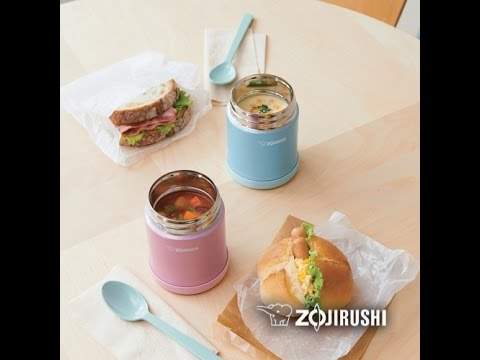Zojirushi stainless steel food jar youtube zojirushi stainless steel food jar forumfinder Image collections