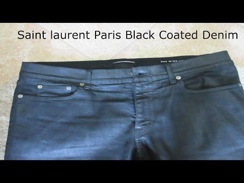 Saint Laurent Paris Black Coated Denim Jeans Review