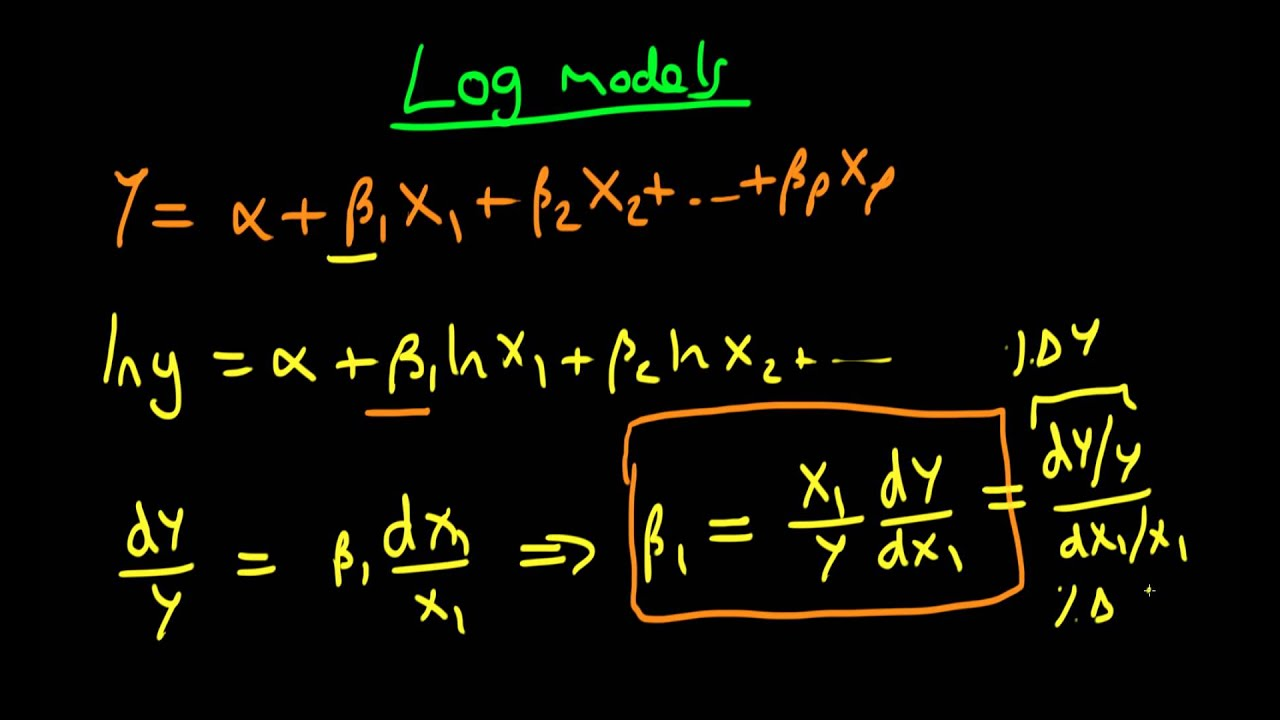 Interpreting Regression Coefficients In Log Models Part 1 Youtube