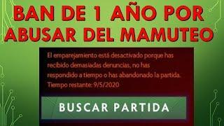 Ban de 1 Año Por Abusar del mamuteo!!!!
