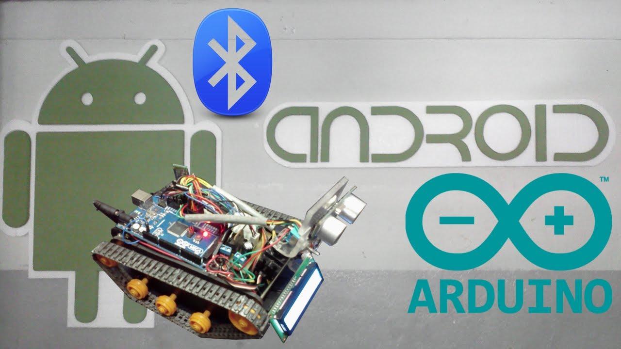 Carrito programado con arduino y android controlado via