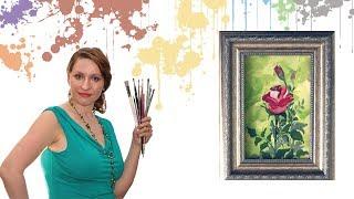 Как нарисовать розу акрилом или гуашью. Правополушарное рисование для начинающих.