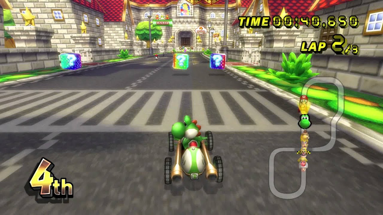 how to get map to show up mario kart 8