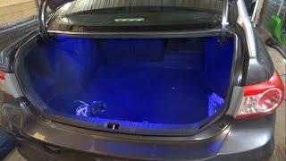 видео как подключит светодиодную ленту в машине на мазда 6 2010