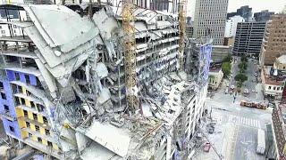 В Новом Орлеане обрушилась часть строящегося здания отеля.