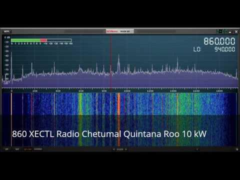 Roatan Honduras AM Broadcast band radio scan with SDRPlay