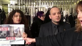 Action féministe dans une boutique Yves Saint Laurent : Stop au sexisme décompléxé