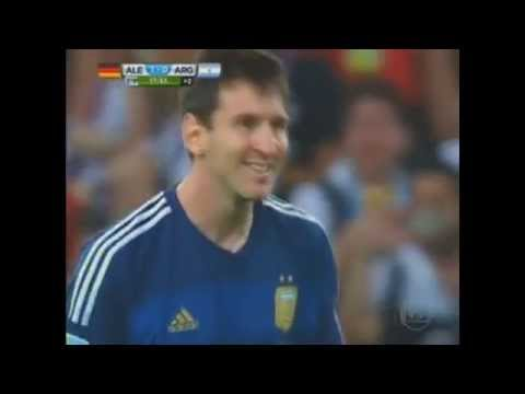 Messi - tiro libre - free throw - Argentina vs Alemania (Germany)