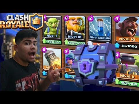 Jogando com o deck do baú super mágico!!! - Clash Royale