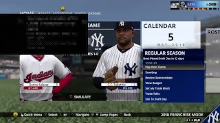 Scoop dan MLB The show franchise Yankees vs Indians game 34