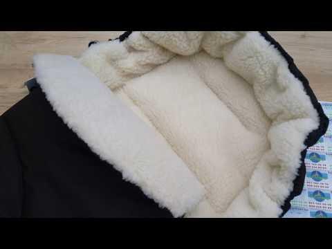 Конверт на овчине в коляску, санки с прорезями Baby Breeze 0306