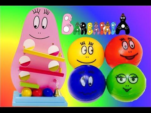 BARBAPAPA Wooden Marble Ball Run Toy Cascade De Boules Jouet Opening