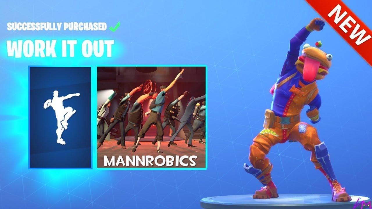 New Work It Out Mannrobics Tf2 Dance Emote Fortnite Battle Royale Youtube