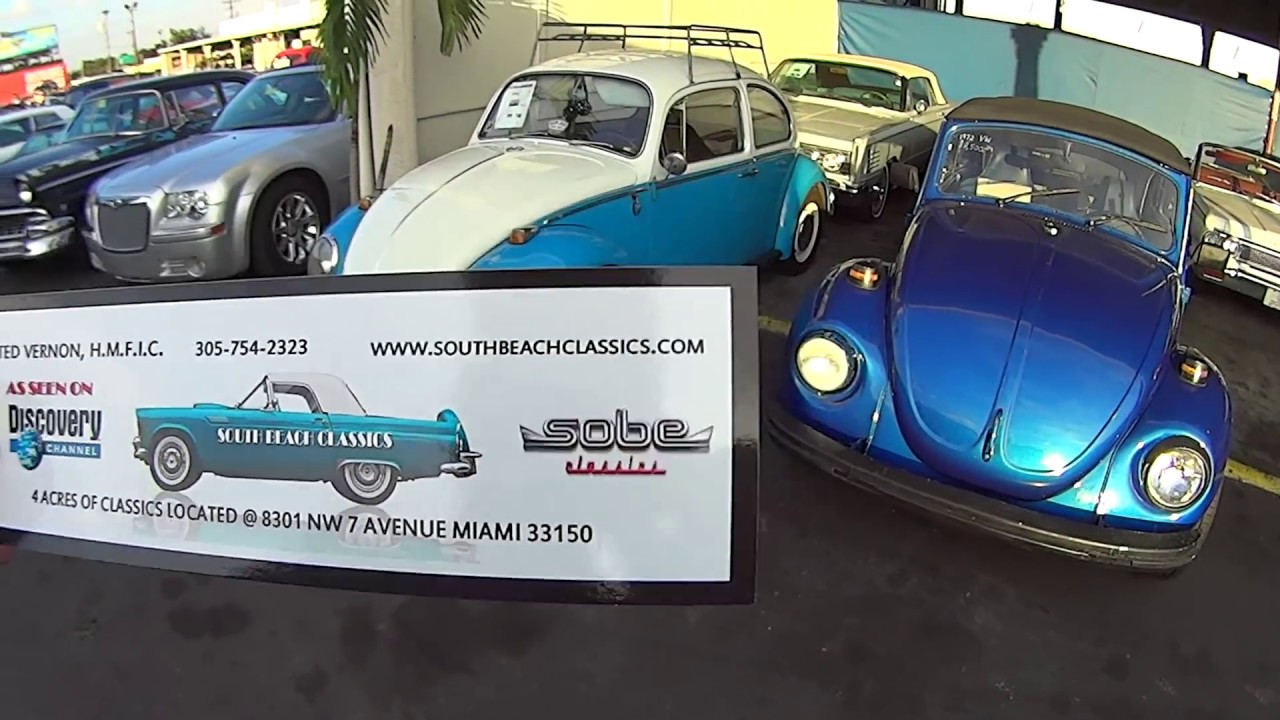 SOUTH BEACH CLASSIC CARS Miami Florida Estados Unidos EUA - YouTube