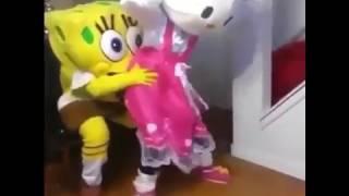 Spongebob and Hello Kitty GET LIT