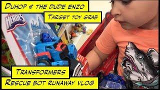 duhop Transformers Rescue bots runaway Target toy grab vlog