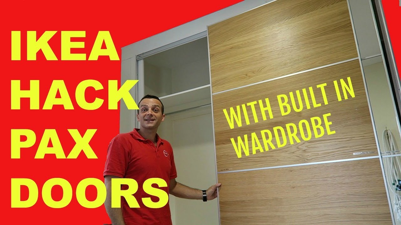 ikea hack pax doors with built in wardrobe youtube. Black Bedroom Furniture Sets. Home Design Ideas
