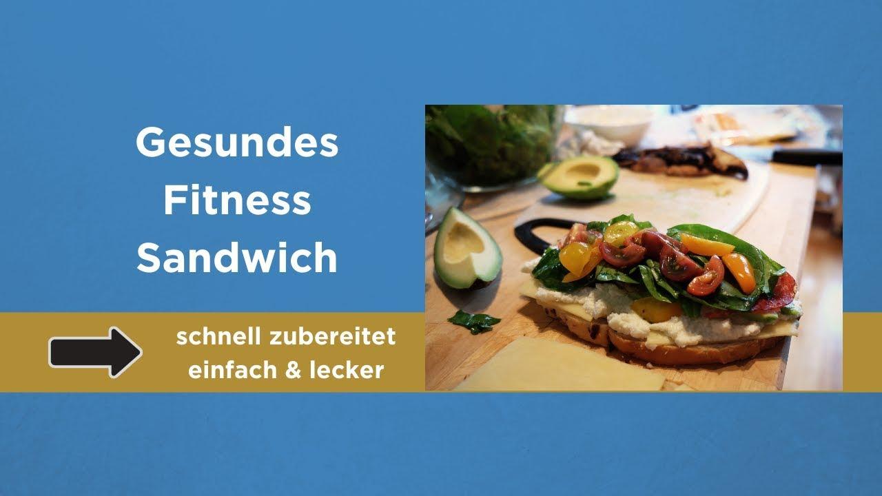 Fitness Rezepte Vollkorn Sandwich To Go Youtube