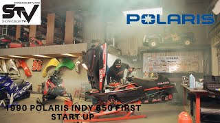 1990 Polaris Indy 650 First Start Up
