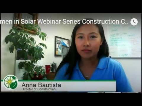 Women in Solar Webinar Series  Construction Careers