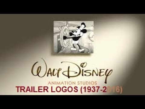 Walt Disney Animation Studios Trailer Logos 1937-