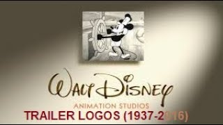 Walt Disney Animation Studios Trailer Logos (1937-2016)