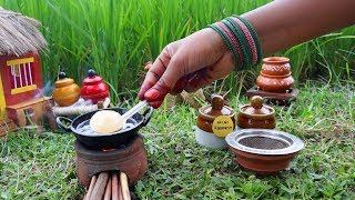 Miniature Poori & Aloo Bhaji recipe   Poori Recipe   Miniature Cooking #40