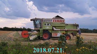 │2018.07.21.│Claas Dominator 208 Mega│Árpa & Búza aratás│Barley & Wheat Harvest│