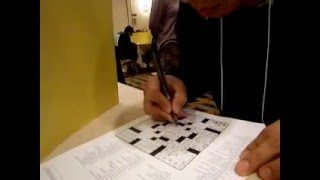 An American Crossword Puzzle Tournament in Stamford, # 1